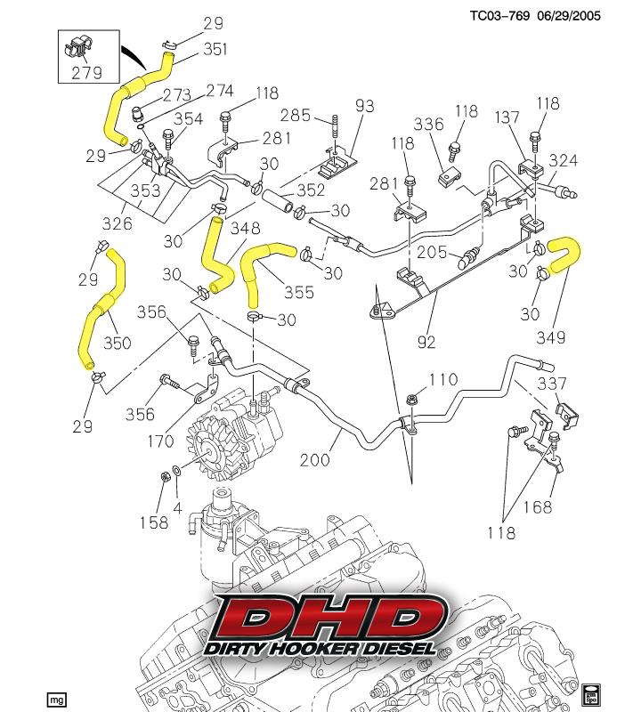 Dhd 700 016 Lbz Lmm Duramax Low Pressure Oem Fuel Line Kit