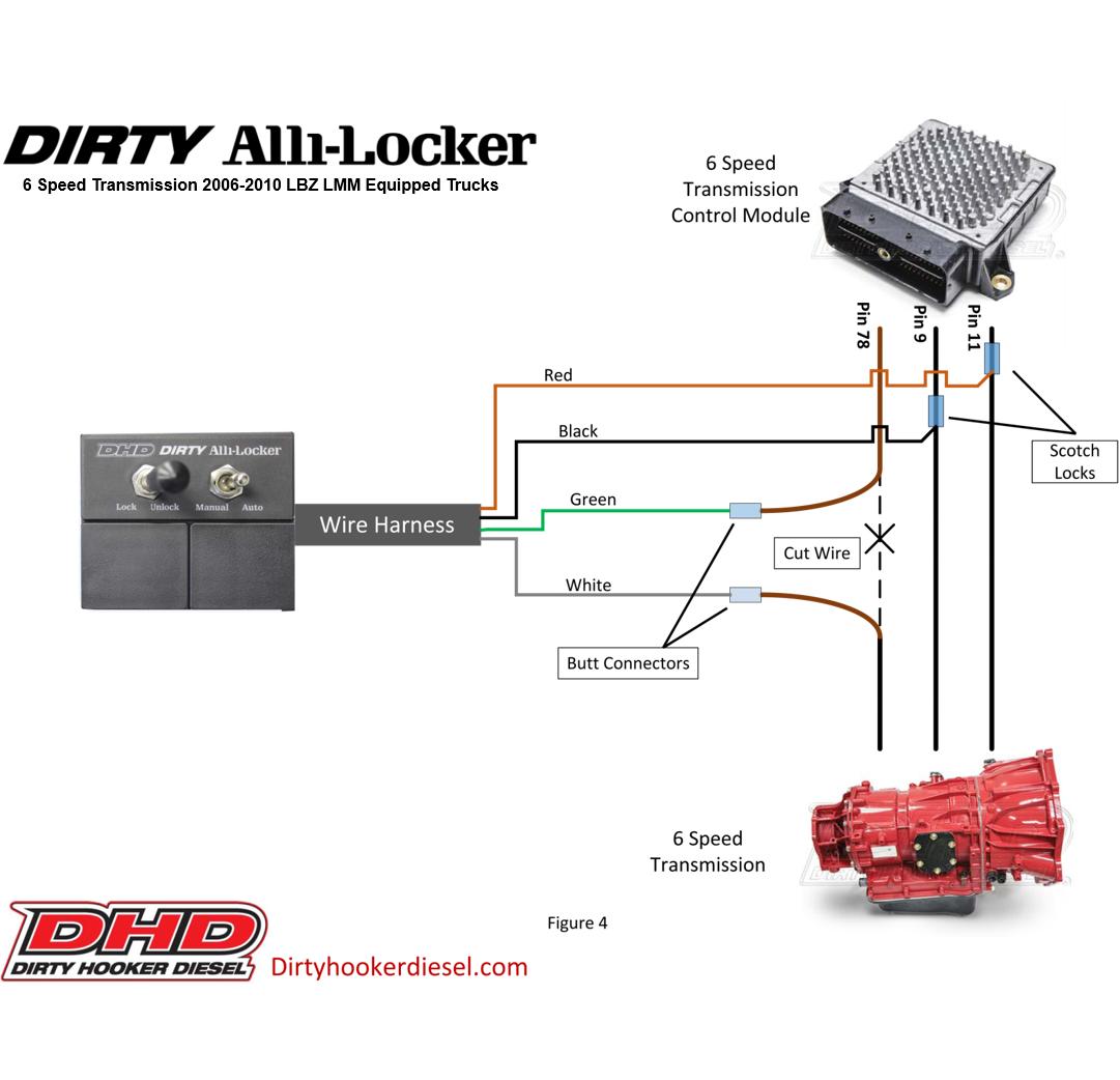 DHD 116-610 Dirty Alli-Locker 6-Speed Torque Converter Lockup Switch