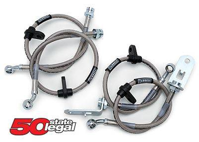Russell Performance - Russell Performance 672440 Stainless Braided Front Brake Line Kit (01-07) Classic GM HD Pickup