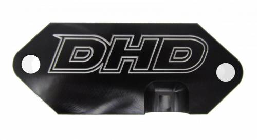Dirty Hooker Diesel - DHD 030-5001 Billet Duramax Rear Engine Cover Coolant Block Off Plate 2001-2016