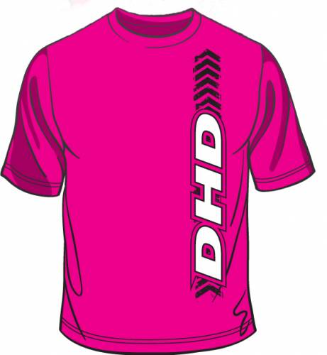 Dirty Hooker Diesel - DHD 061-024T Pink Vertical DHD T-Shirt