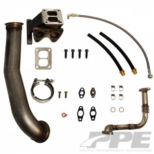 PPE - PPE 116005600 GT40R Series Turbo Installation Kit - GM 6.6L Duramax 2006-2010 LBZ/LMM Kit