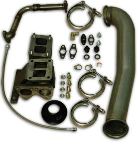 PPE - PPE 116006000 GT42 or 45R Series Large Frame Turbo Installation Kit - GM 6.6L Duramax 2001-2010 LB7/LLY/LBZ Kit