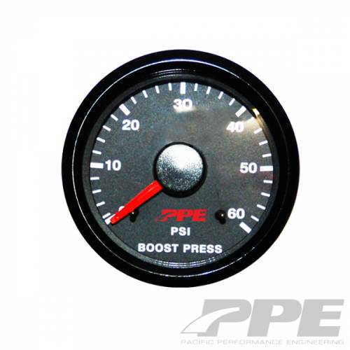 PPE - PPE 516010000 Turbo Boost Pressure Gauge With Tubing Kit
