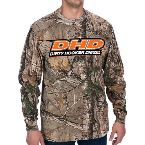Dirty Hooker Diesel - DHD 061-030L Camo  DHD Long Sleeve T-Shirt