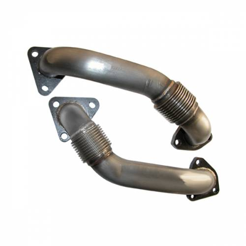 PPE - PPE 116120000 OEM Length Replacement High Flow Up-Pipes GM 6.6L Duramax 2001-2004