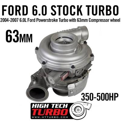 High Tech Turbo - HTT 743250-0063 6.0L FORD POWERSTROKE TURBO WITH 63MM COMPRESSOR WHEEL 2004-2007