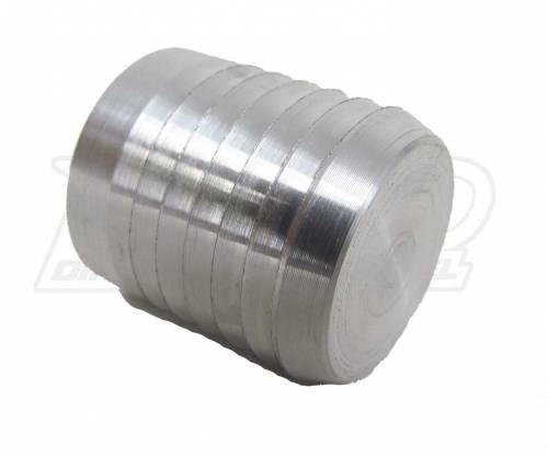 Dirty Hooker Diesel - DHD 007-0313 Aluminum Hose Barbed Hose Plug for Lower Coolant Hose - 1 inch