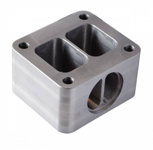 "PPE - PPE 116006059 T4 Riser Block - GM 6.6L Duramax With wastegate port 3/8"" Height"