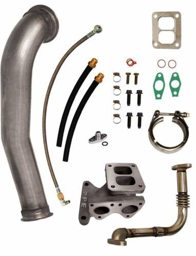 PPE - PPE 116006100 GT40R Series Turbo Installation Kit - GM 6.6L Duramax 2001-2004 LB7 Kit plus 4088R Turbo