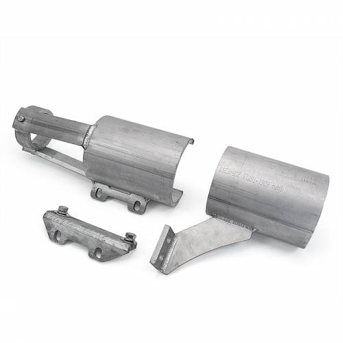 "Dirty Hooker Diesel - DHD 604-409 Front Drive Shaft Blow Shields Aluminum (4"" Lift) 2001-2010"