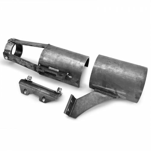 """Dirty Hooker Diesel - DHD 604-410 Front Drive Shaft Blow Shields Steel (4"""" Lift)2001-2010"""