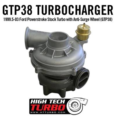 High Tech Turbo - HTT 1831454R 1999.5-03 FORD POWERSTROKE STOCK TURBO WITH ANTI-SURGE WHEEL (GTP38)