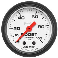 AUTOMETER PRODUCTS - BOOST GAUGE 2 1/16 IN 100PSI MECHANICAL
