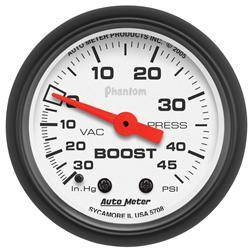 AUTOMETER PRODUCTS - VAC/BOOST GAUGE  2 1/16 IN 30INHG-45PSI MECHANICAL