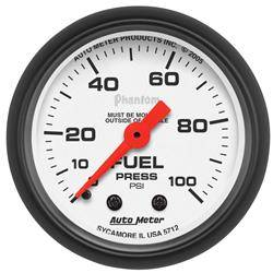 AUTOMETER PRODUCTS - FUEL PRESSURE GAUGE 2 1/16 IN 100PSI MECHANICAL