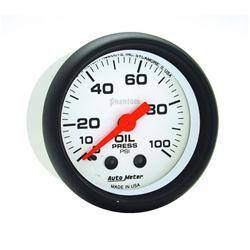AUTOMETER PRODUCTS - OIL PRESSURE GAUGE  2 1/16 IN 100PSI MECHANICAL