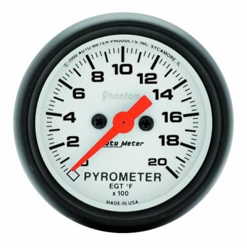 AUTOMETER PRODUCTS - GAUGE PYROMETER (EGT) 2 1/16 IN 2000DEG F DIGITAL STEPPER MOTOR