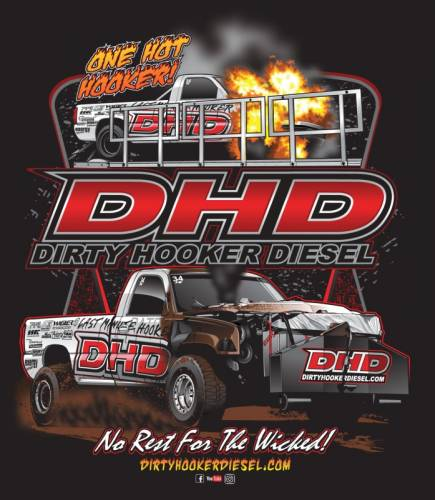 "Dirty Hooker Diesel - DHD 061-107T ""One Hot Hooker"" UCC Black Tribute T-Shirt YS-XXXXXL"