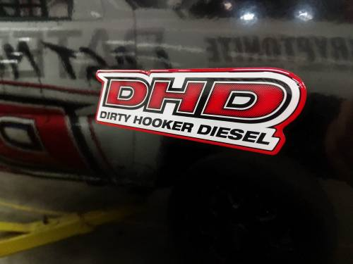 "Dirty Hooker Diesel - DHD 061-010 2""x5"" High Gloss Domed Poly DHD Decal"