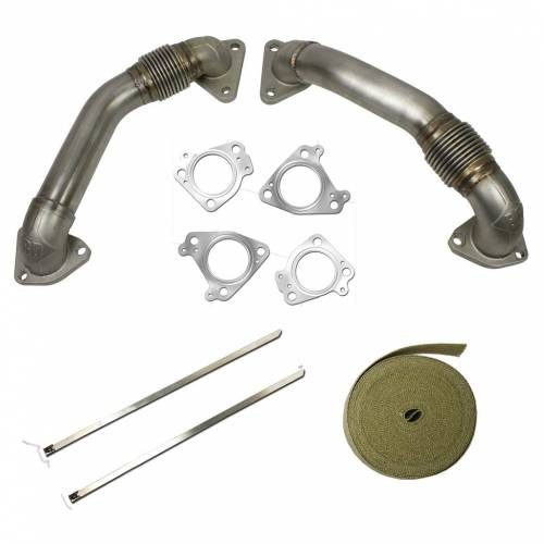 "BD Diesel - BD 1043800 2"" High Flow Stainless Duramax Up Pipes 2001+ Pre EGR"