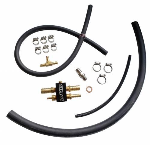 "Dirty Hooker Diesel - DHD 700-155B Black Super High Flow 1/2"" Duramax Fuel Block Upgrade Kit LLY LBZ LMM"