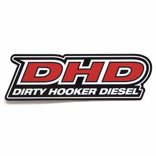 Dirty Hooker Diesel - DHD 061-002 Standard Black Red DHD Rear Window Sticker