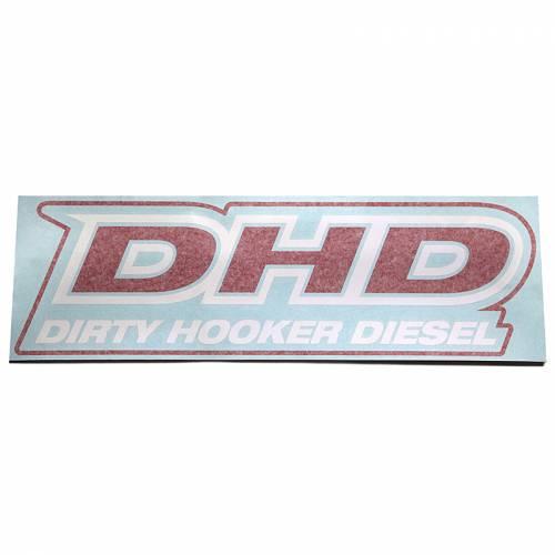 Dirty Hooker Diesel - DHD 061-003 Large Die-Cut DHD Window Decal