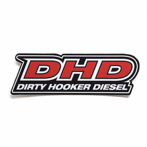 Dirty Hooker Diesel - DHD 061-005 DHD Black/Red Rear Window Sticker