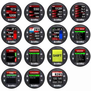 Gauges & Gauge Pods - Gauges - Banks Power - Banks iDash 1.8 Super Gauge Universal OBD-II Monitor Stand Alone