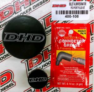 Dirty Hooker Diesel - DHD 007-7100 Deluxe Duramax PCV Reroute Kit With Billet Resonator Plug - Image 3