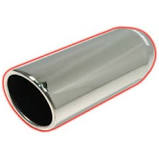 Exhaust System - Exhaust Tips - Flo Pro - Flo Pro 354012RAC 3.5x4x12 Rolled Angle Clamp on SS