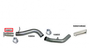 "Exhaust System - Exhaust Accessories - Flo Pro - Flo Pro 10853 GM LMM 5"" Intermediate Pipe Aluminized"