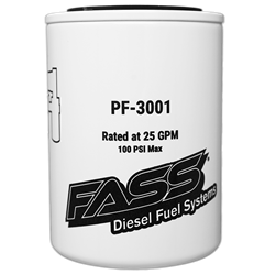 Filters - Fuel Filters - Fass - Fass PF-3001 Fuel Particulate Filter 144 Micron (Titanium Series)
