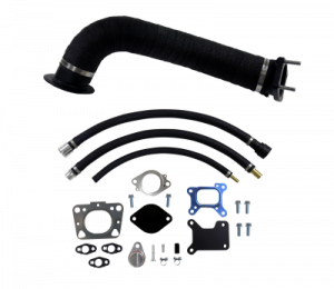"""Exhaust System - Exhaust Manifolds, Headers, Down-Pipes, Up-Pipes - WCFAB - 2017-2019 L5P Duramax 3 1/2"""" Down Pipe Kit"""