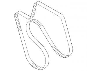GM - GM 97300653 Duramax Serpentine Belt 2002-2005 w/AC w/105A Alt. - Image 2