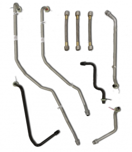 Transmission - Hard Parts - Dirty Hooker Diesel - DHD 100-557 Hardcore Hooker Duramax Transmission Cooler Line Set Early Allison 5-Speed
