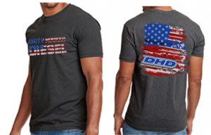 DHD Apparel - T-Shirt's, Sweatshirts & Tank Tops - Dirty Hooker Diesel - DHD 061-110T Next Level Patriot T-Shirt