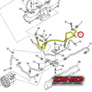 GM - GM 97215995 LB7 Duramax Rear Fuel Return Hard Line - Image 2