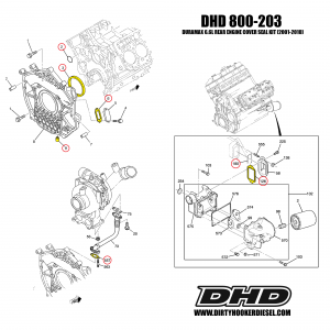 Duramax Rear Engine Cover Seal Kit