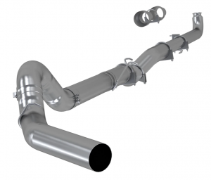 """MBRP S60200PLM Chevy/GMC Duramax 5"""" No Muffler No Tip Downpipe Back Exhaust System 2001-2007"""